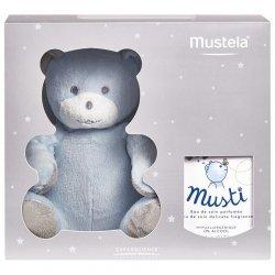 Mustela Coffret Musti Eau de Soin 50ml + Peluche Nounours Bleu pas cher, discount