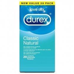 Durex Classic Natural 20 pièces pas cher, discount
