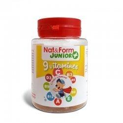 Nat&form junior 9vitamines 30 cap