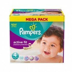 Pampers Active Fit Premium Protection Couches Taille 4  7-18kg  x78