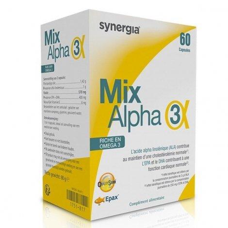 Synergia Mix-Alpha 3 Oméga 3 60 capsules pas cher, discount