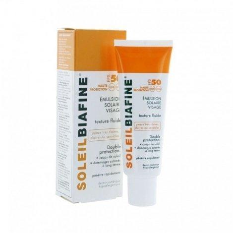 Soleil Biafine SPF50 Emulsion Solaire Visage 50ml pas cher, discount
