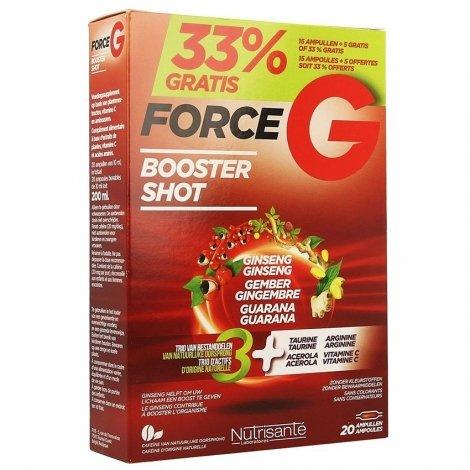 Nutrisanté Force G Booster Shot 15 ampoules + 5 OFFERTES pas cher, discount