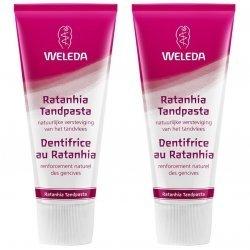 Weleda Duo Pâte Dentifrice au Ratanhia 2x75ml pas cher, discount