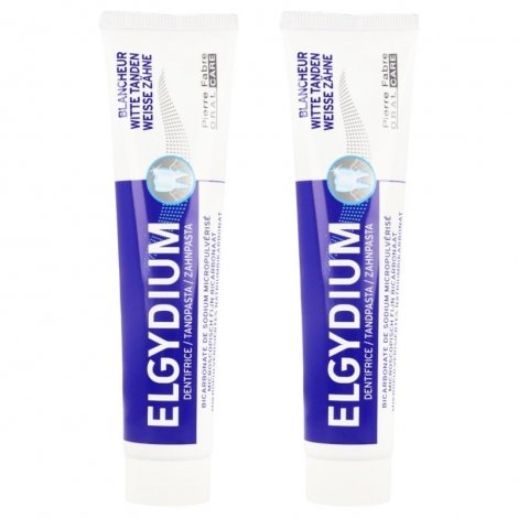 Elgydium Pack Dentifrice Blancheur 2x75ml pas cher, discount