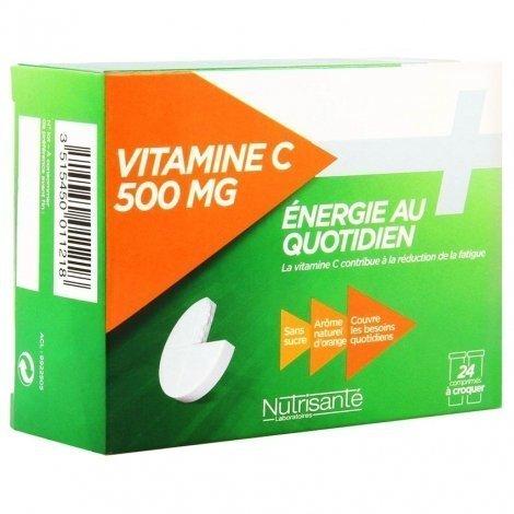 Nutrisante Vitamine C 500 mg Energie au Quotidien 24 Comprimés à Croquer pas cher, discount