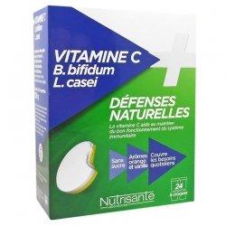 Nutrisante Vitamine C + Cb Bifidum + l Casei 2x12 comprimés à croquer
