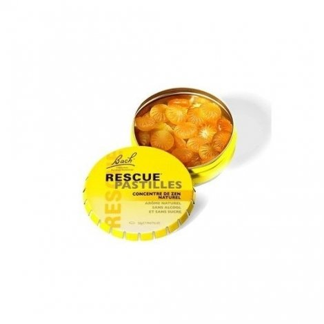 Bach Rescue Pastilles Anti-Stress Saveur Orange Sureau 50g pas cher, discount