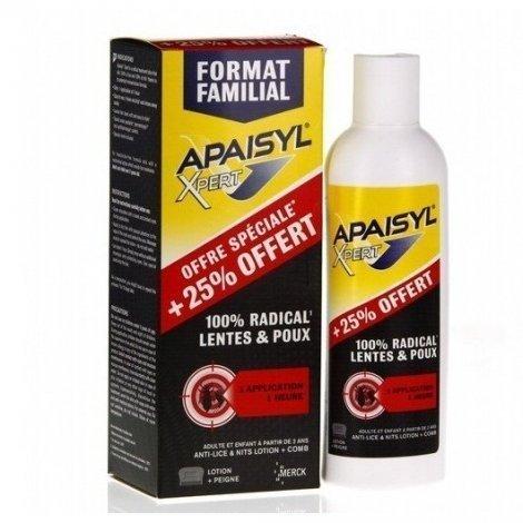 Apaisyl Xpert 100% Radical Lentes et Poux Format Familial 200 ml pas cher, discount