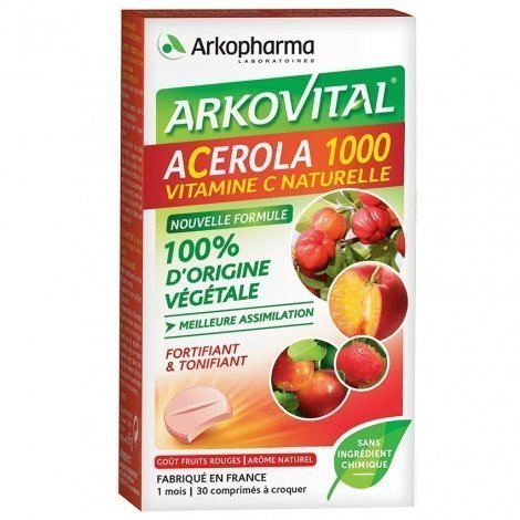 Arkopharma Arkovital Acérola-1000 30 comprimés pas cher, discount