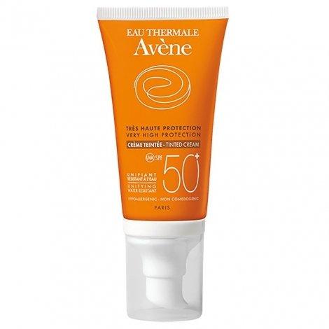 Avene Solaire crème visage teintée ip50+ très haute protection 50ml pas cher, discount
