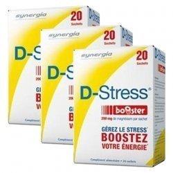 Synergia LOT de 3x D Stress Booster Anti stress Concentré x20 Sachets