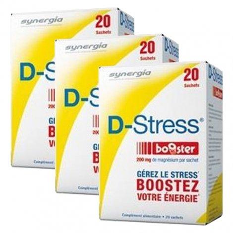 Synergia LOT de 3x D Stress Booster Anti stress Concentré x20 Sachets pas cher, discount