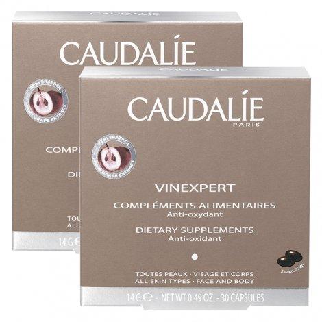 Caudalie LOT de 2 Vinexpert Compléments Alimentaires Hydratation - Anti-Oxydant (2x30 Capsules) pas cher, discount