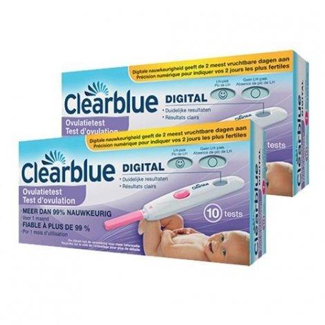 Clearblue LOT de 2X10 Tests D'ovulation Digital Fiable à 99% pas cher, discount