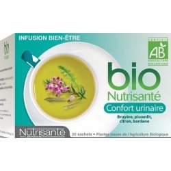 Nutrisante Infusion bio : Confort Urinaire  x20 sachets pas cher, discount