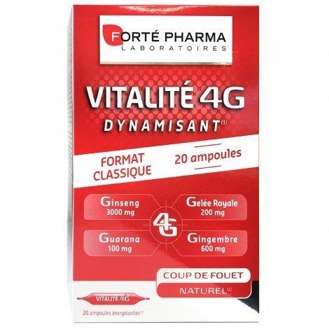 Forté Pharma Vitalité 4G Dynamisant 20 ampoules pas cher, discount