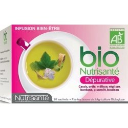 Nutrisante Infusion bio : Dépurative x20 sachets pas cher, discount