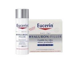 Eucerin Hyaluron-Filler LOT Soin de Jour Comblement de Rides Peaux Normales à Mixtes 50 ml + Crème de nuit 50ml