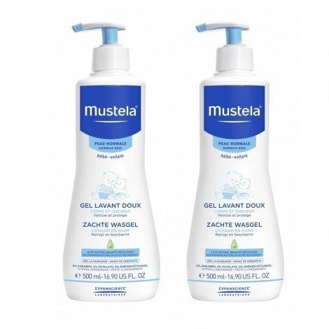 Mustela LOT de 2 Gels Lavant Doux Dermo Nettoyant 500 ml pas cher, discount
