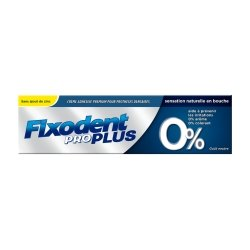 Fixodent Pro Plus 0% Pate Adhesive 40g