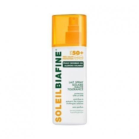 Soleil Biafine Lait Spray Solaire SPF 50+ 200ml PROMO 3€ pas cher, discount