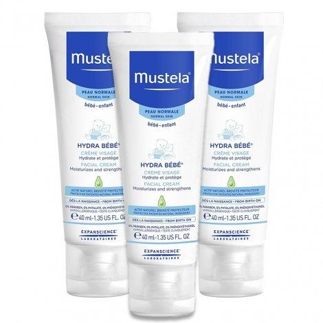 Mustela Duopack Hydra Bébé Crème Visage 3x40ml pas cher, discount