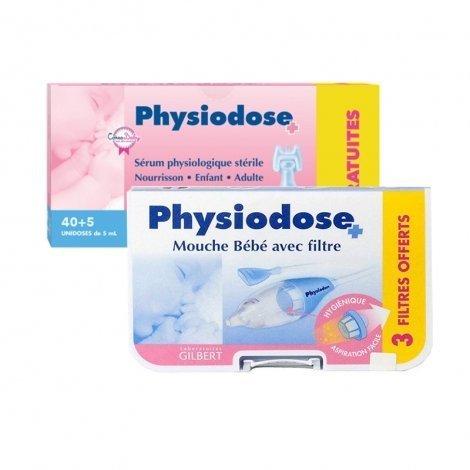 Physiodose LOT serum physiologique unidose 40x5ml + 5x5ml gratis + 10 Filtres Jetables Mouche bébé pas cher, discount