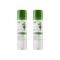 Klorane Capillaire LOT de 2 Shampooings Secs Séboregulateur à l'extrait d'ortie 150 ml