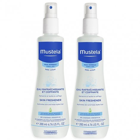 Mustela Duopack Bébé Eau Rafraîchissante et Coiffante Spray 200 mlx2 pas cher, discount