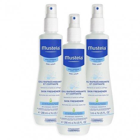 Mustela Duopack Bébé Eau Rafraîchissante et Coiffante Spray 200 mlx3 pas cher, discount