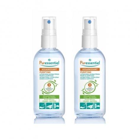 Puressentiel LOT de 2 Lotions Spray Antibactérien Main & Surfaces 80ml pas cher, discount