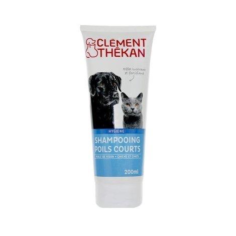 Clément Thékan Shampoing Chiens et Chats Poils Courts 200 ml pas cher, discount