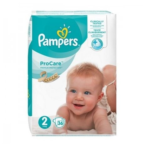 Pampers procare premium protection couches t2 3 6kg x36 tous les produits pampers procare - Couche pampers premature ...