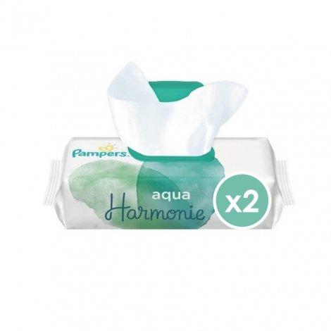 Pampers Lingettes Aqua Harmonie 2x48 unités pas cher, discount