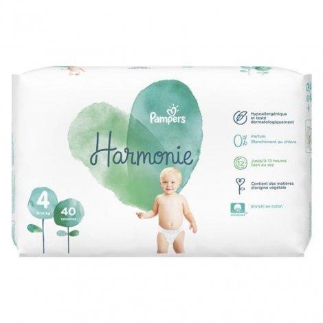 Pampers Harmonie T4 9-14kg Jumbo 40 unités pas cher, discount