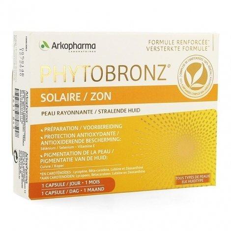 Arkopharma Phytobronz Solaire 30 capsules pas cher, discount