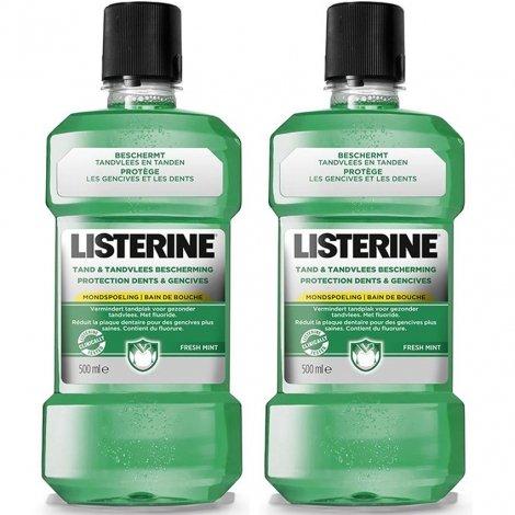 Listerine Protection Dents Et Gencives LOT de 2x500ml pas cher, discount