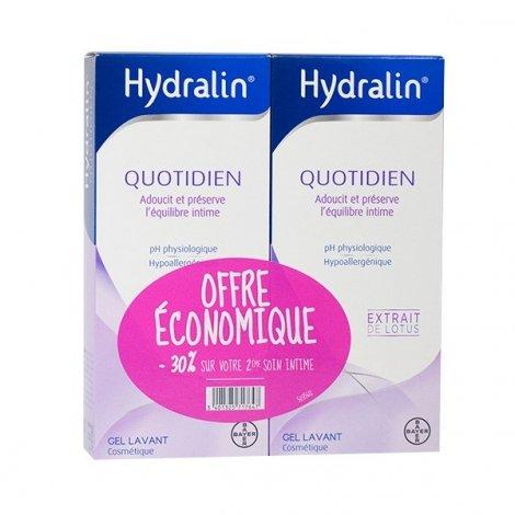 Hydralin Quotidien Gel Lavant - Toilette Intime Offre Economique 2x400ml pas cher, discount