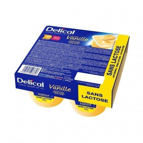 Delical Crème Déssert HP HC Vanille Sans 4x125g pas cher, discount