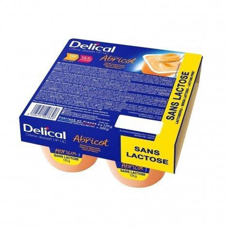 Delical Crème Déssert HP HC Abricot 4x125g pas cher, discount
