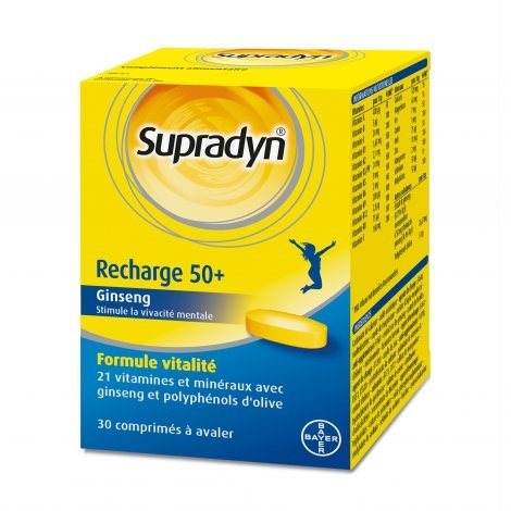 Supradyn Recharge 50+ 30 comprimés pas cher, discount