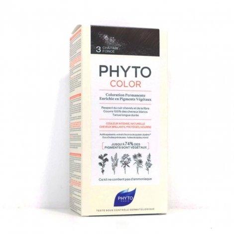 Phyto Color Coloration Permanente 3 Châtain Foncé pas cher, discount