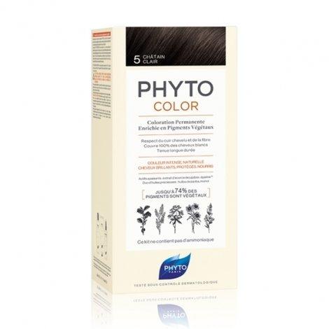 Phyto Color Coloration Permanente 5 Châtain Clair pas cher, discount