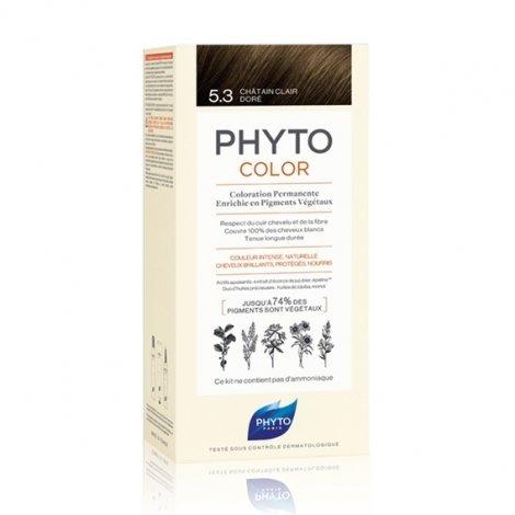 Phyto Color Coloration Permanente 5.3 Châtain Clair Doré pas cher, discount