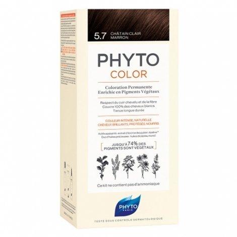 Phyto Color Coloration Permanente 5.7 Châtain Clair Marron pas cher, discount
