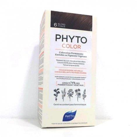 Phyto Color Coloration Permanente 6 Blond Foncé pas cher, discount
