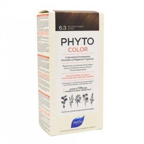 Phyto Color Coloration Permanente 6.3 Blond Foncé Doré pas cher, discount