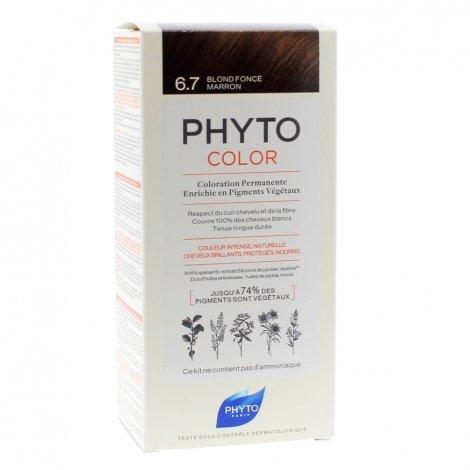 Phyto Color Coloration Permanente 6.7 Blond Foncé Marron pas cher, discount