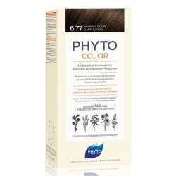 Phyto Color Coloration Permanente 6.77 Marron Clair Cappuccino